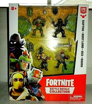 FORTNITE BATTLE ROYALE COLLECTION RAPTOR RUST LORD REX RAVEN NEW IN PACKAGE