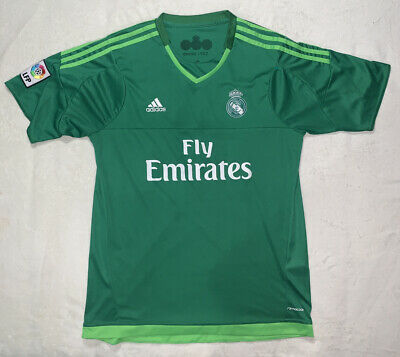 Adidas Real Madrid Soccer Jersey Green Mens Size Large Fly Emirates LFP
