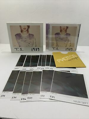 Taylor Swift 1989 Deluxe DLX CD Target Complete w Polaroids 27-39 Slipcover