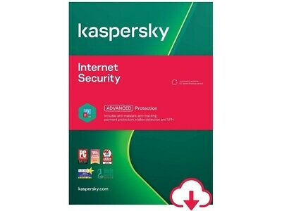 Kaspersky Internet Security 2021 - 5 Devices1 Year - PC Mac Android