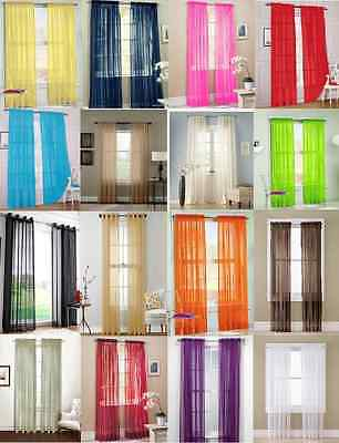2Pc Sheer Voile Window Panel curtains DRAPE 63 84 95 or 1Pc SCARF MANY COLOR