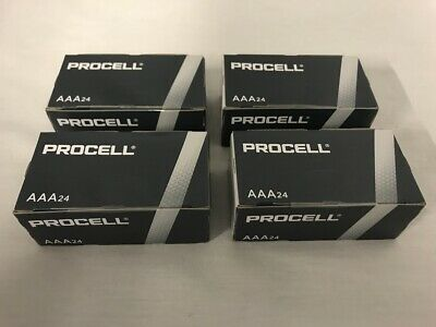 NEW DURACELL PROCELL AAA ALKALINE BATTERIES 96 4 BOXES OF 24 EXP 5- YRS