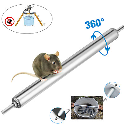Mouse Rats Stick Spin Traps Roller Rodent Mice Catcher Bucket Spin Trap Stick