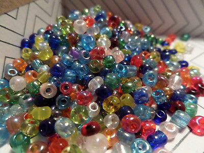 Glass Seed Beads - Assorted Colors - 2-0 oz size