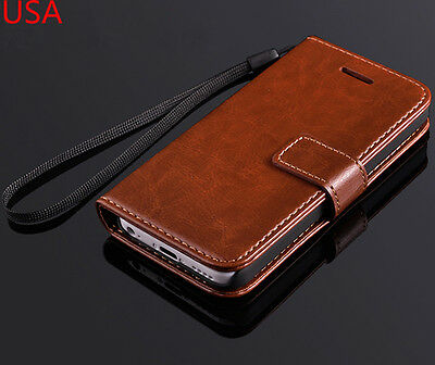 Luxury Real Leather Flip Wallet Case Cover For Apple iPhone 5C