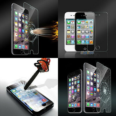 HD Premium Tempered Glass Film Screen Protector for iPhone 4s 5 5c 5s 6 6s 6Plus