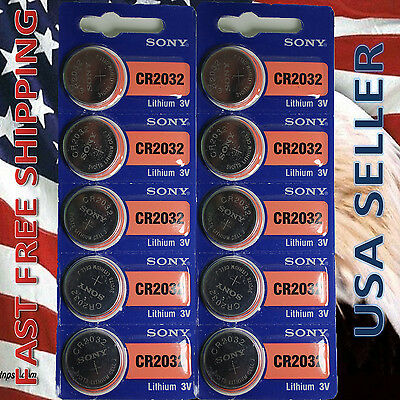 FRESHLY NEW10x SONY CR2032 Lithium Battery 3V Exp 2024 Pack 10 pcs Coin Cell