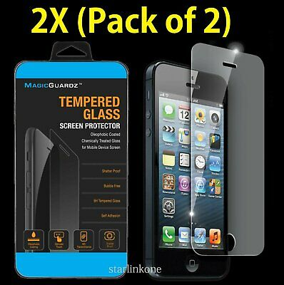 2x HD Premium Real Tempered Glass Screen Protector for Apple iPhone 55S5C