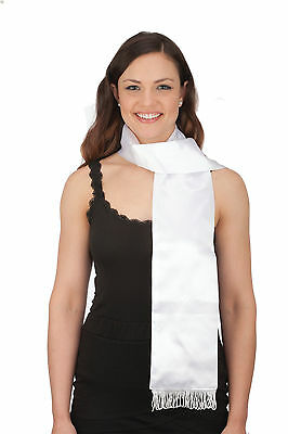 White Aviator Scarf 72 Amelia Earhart Scarf 20s Long White Scarf Costume 26077