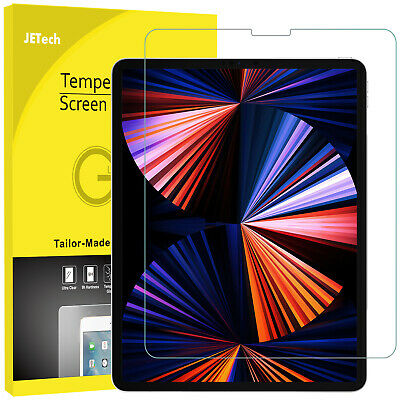 JETech Screen Protector for iPad Pro 12-9 202120202018 Tempered Glass Film