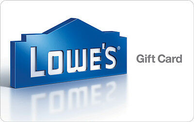 10  25  50  100 Lowes Physical Gift Card - 1st Class Mail Delivery