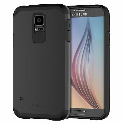 JETech Samsung Galaxy S5 Case 2-Layer Shock-Absorption Cover Black