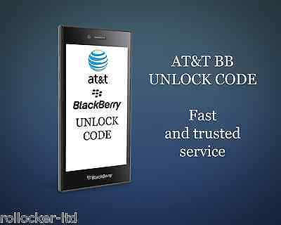 AT-T BLACKBERRY FAST UNLOCK CODESERVICE ALL MODELS BOLD CURVE 9900 Z10 Q10