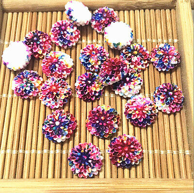 40pcs 10mm purple red sunflower Resin Flatback Cabochon ScrapbookIng for craft
