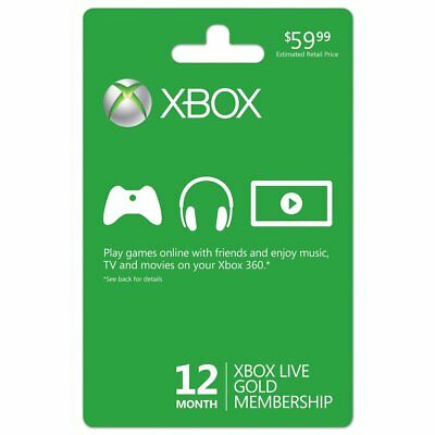 Xbox One360 Live 12 Month Gold Membership Subscription Code Fast Dispatch