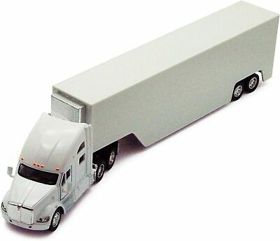 Kinsmart 168 scale Kenworth T700 tractor Truck Cab diecast model PullBack White