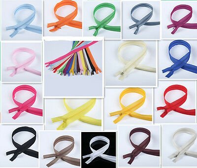 50-100pcs Nylon Invisible Soft tulle Coil Zippers Sewing 22inch colors of 17