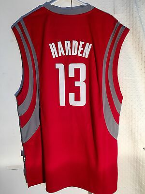 Adidas Swingman NBA Jersey Houston Rockets James Harden Red sz L