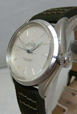 Rolex Oyster Perpetual RARE Model 6565 Stainless Steel Original Dialed NICE 1957