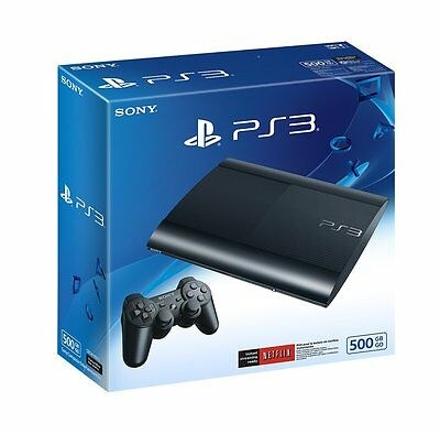Sony PlayStation 3 Super Slim 500 GB Console Charcoal Black PS3 Brand New