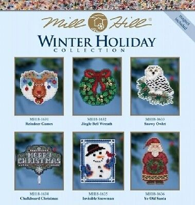 Mill Hill Winter Holiday OrnamentMagnet Kit- Multiple Designs to Choose From