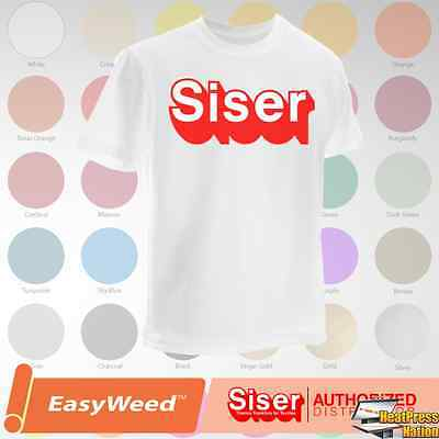 Siser Easyweed HTV T-Shirt Vinyl 15 x 12 5 Yards - 59 COLORS