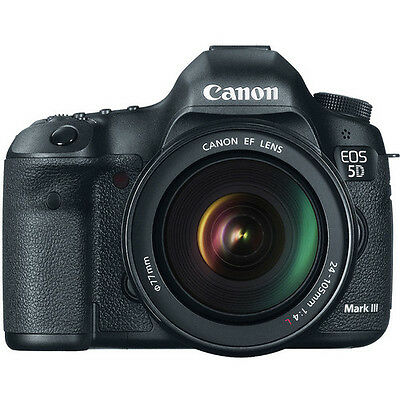 Canon EOS 5D Mark III DSLR Camera with 24-105mm Lens Black BRAND NEW