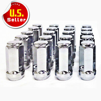 20 Bulge Chrome Lug Nuts  12-20 12x20  Acorn Cone Seat  Fits Most Jeeps