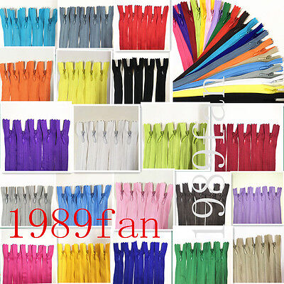 510pcs Invisible Zippers Pillow Dress Clothes Cushion 20 Colors 16 inch