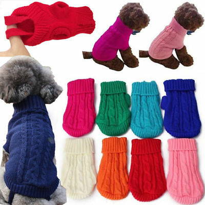 Popular Pet Dog Cat Knitted Jumper Winter Sweater Warm Coat Jacket Puppy Clothes