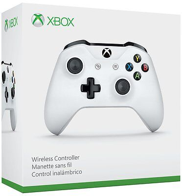 Xbox One S Wireless Microsoft Controller Glacier White Brand NEW w Bluetooth