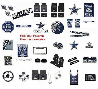 New NFL Dallas Cowboys Pick Your Gear  Automotive Accessories Official Licensed
