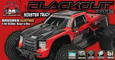 Redcat Racing Blackout XTE 110 Scale Electric Remote Control RC 4X4 Red Truck