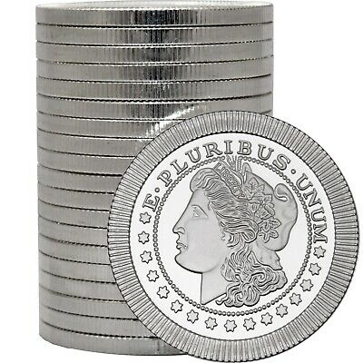 Morgan Dollar Stackables by SilverTowne 1oz -999 Silver Medallion 20pc