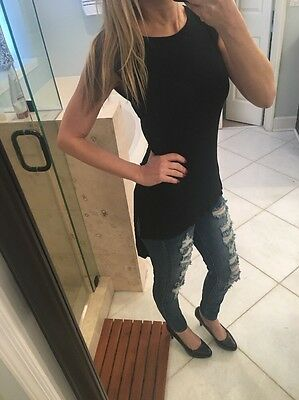 Nwt New HARD TAIL Long Back Skinny Tee Size XS LOOK