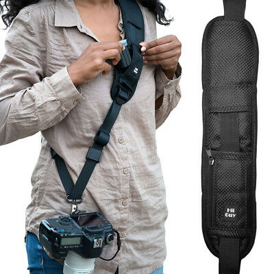 HiiGuy Camera Strap Nikon l Canon Extra Long Neck Strap with Quick Release