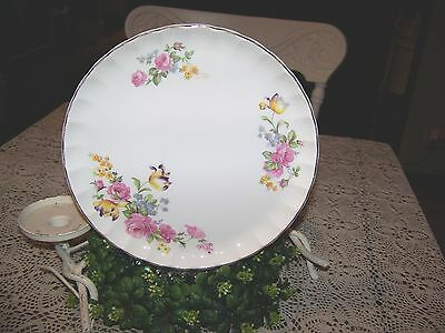 SHABBY CHIC VINTAGE S- W- GEORGE DINNER PLATE BOLERO PATTERN 9 FLORAL GOLD TRIM