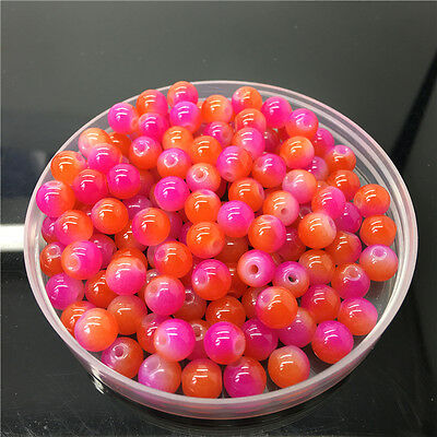 10mm 20Pcs Double Color Glass Pearl Round Spacer Loose Beads Jewelry Making 122