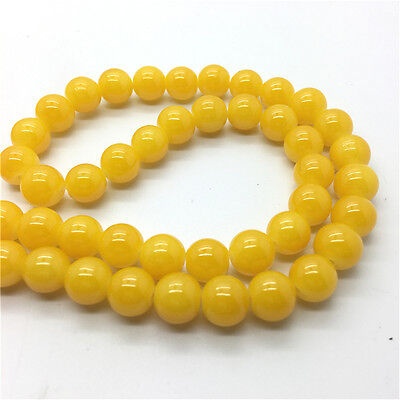 50Pcs 6mm Jade Color Glass Pearl Round Spacer Loose Beads Jewelry Making 6M32