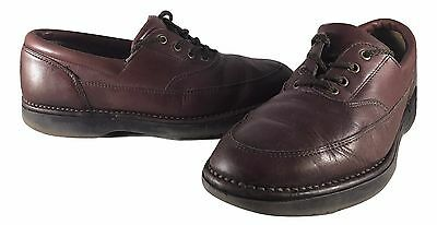 Rockport M2617 Mens Brown Leather Oxfords Casual Dress Shoes SIZE 9W