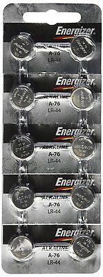 10 FRESH Energizer A76 LR44 AG13 L1154 G13 V13GA Alkaline Button Batteries