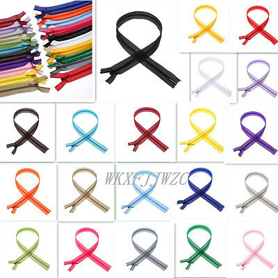 3 Nylon Invisible 12-20inch Silk Zippers Sewing Tailoring Accessories 20color
