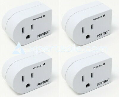 lot 4 new pack single outlet surge protector 245 joules with power suppressor