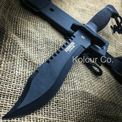 12 TACTICAL BOWIE SURVIVAL HUNTING KNIFE w SHEATH MILITARY Combat Fixed Blade