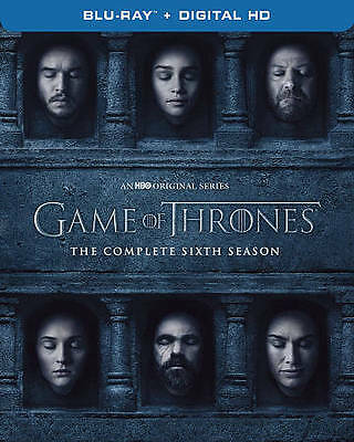 Game of Thrones The Complete 6th Season Blu-ray Disc 2016 4-Disc Set NEW