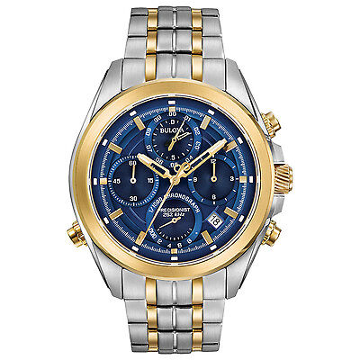 Bulova Precisionist Mens Quartz UHF Chronograph Two-Tone 44-5mm Watch 98B276