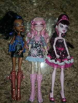 Monster High Doll  Lot Of 3 By Mattel