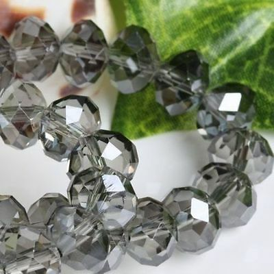 wholesale Colorful Gray color 6x8mm crystal beads 70PCq4