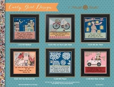 Curly Girl Designs Cross Stitch Kits by Mill Hill - Multiple Designs to Choose