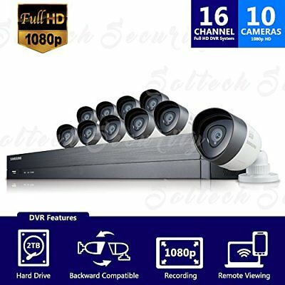 Samsung - SDH-C75100 16 Channel 1080p HD 2TB Security System with 10 Cameras NEW